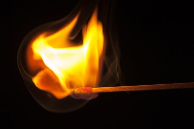 Streichholz Feuer